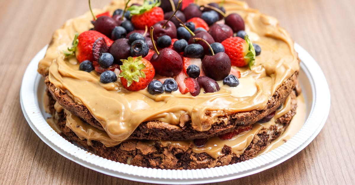 A cake with fruit on a plate